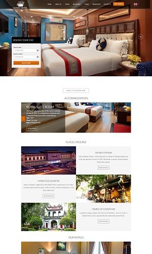 Mẫu thiết kế website khách sạn, resort