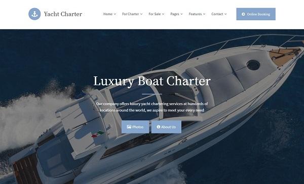 Mẫu website du thuyền