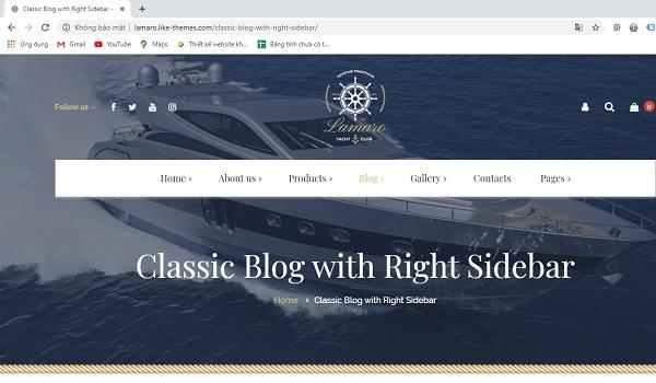 Thiết kế website du thuyền
