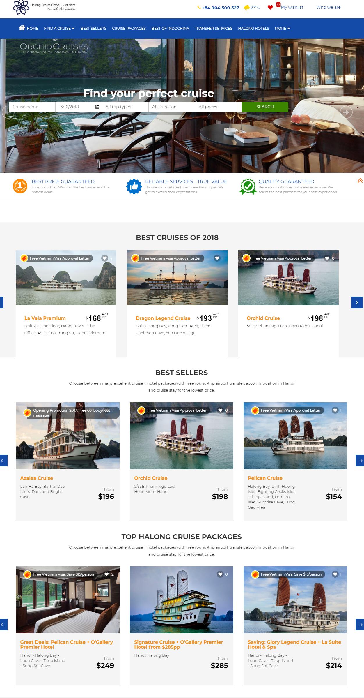 Báo giá thiết kế website khách sạn