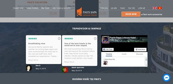 Thiết kế website đặt phòng khách sạn