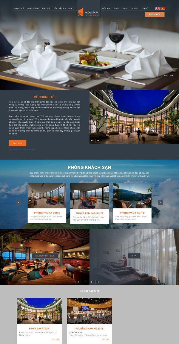 Website khách sạn đẹp