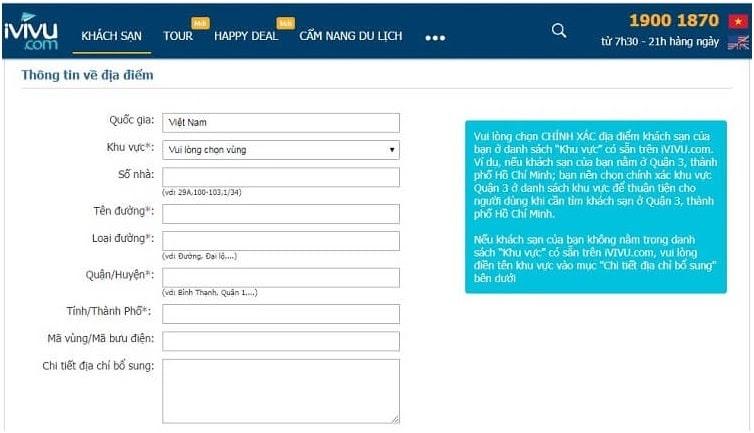 Hướng dẫn đăng ký bán phòng trên iVIVU