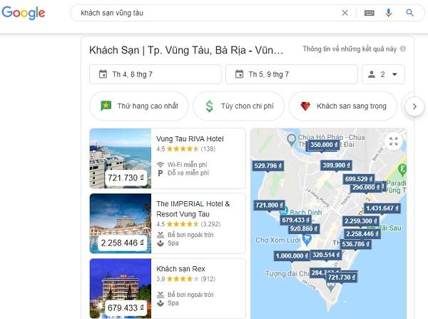 Quảng cáo khách sạn trên Google